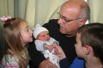 Papa J and the three grandchildren