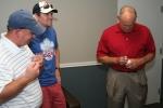 Autographing baseball