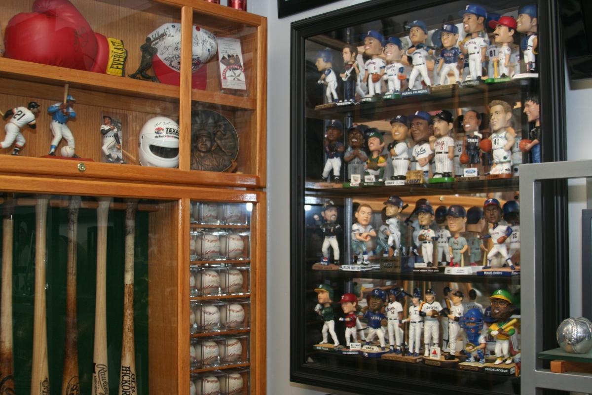 Visiting clubhouse memorabilia room