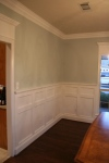 Wainscoting and crown moulding