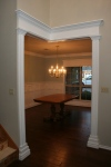 Dining room view from entry hall