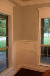 Corner shot of wainscoting