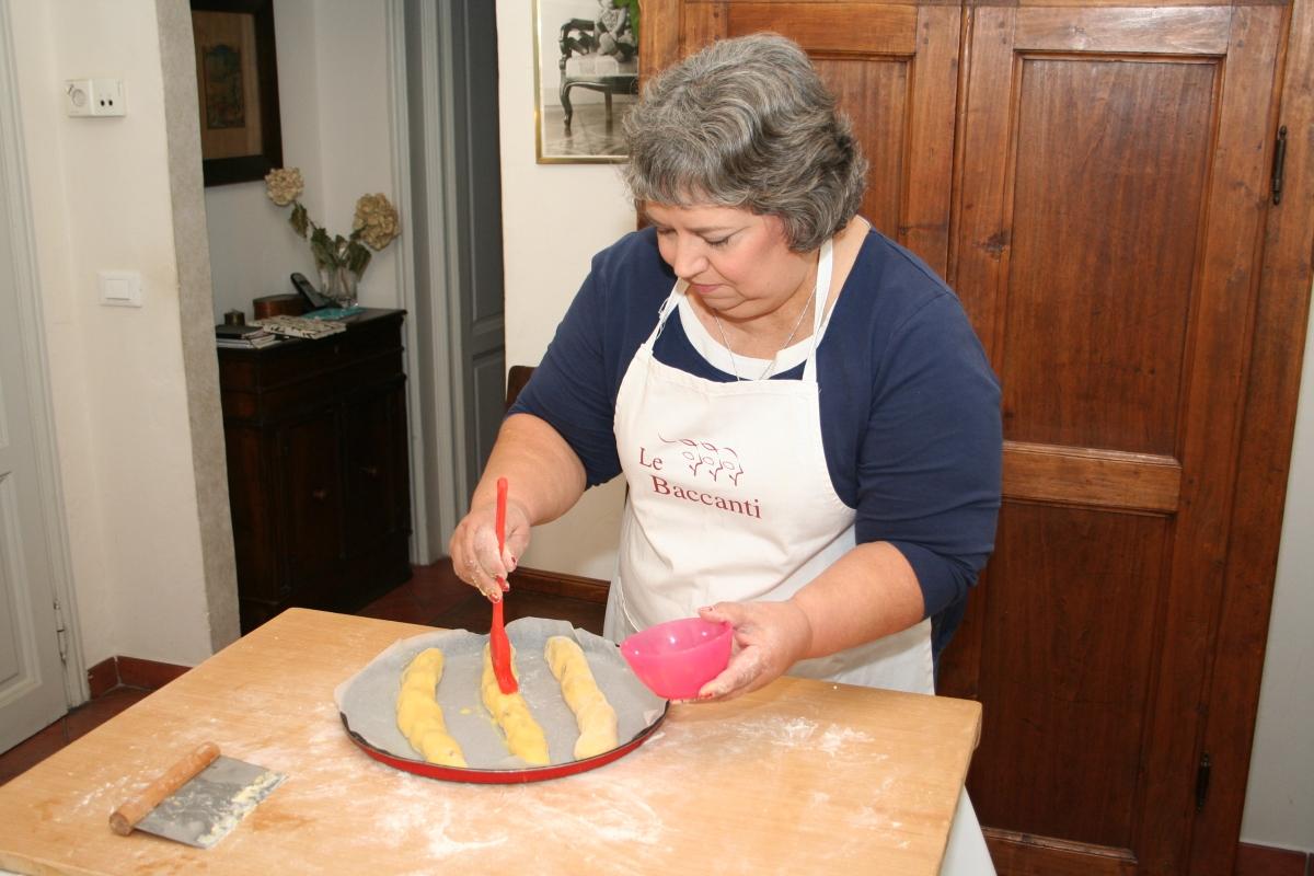 Adding egg wash