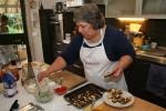 Jackie preparing dish