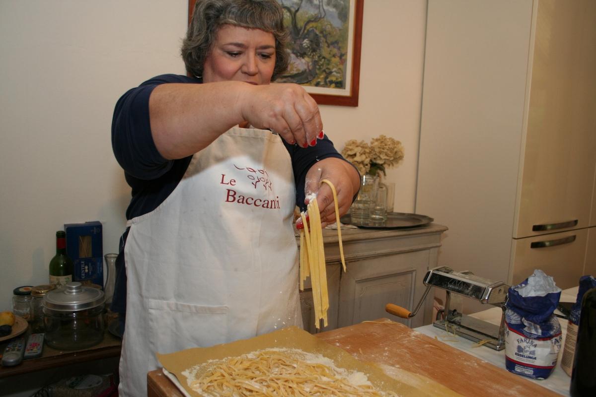 Jackie making pasta