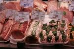 Pork cuts nicely prepared