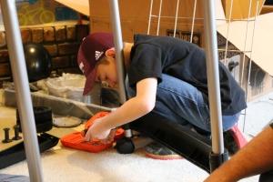 Jackson using tools