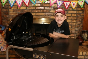 Jackson and his Weber Performer