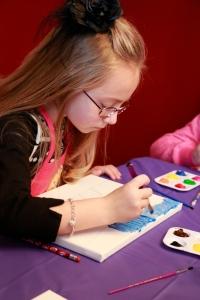 Lauren painting